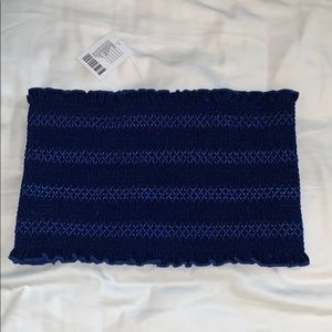 UO Blue Bandeau Crop Top